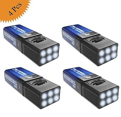 MicroBrite LED Flashlight by Bell and Howell with FREE 9-volt Battery  Pack of 4