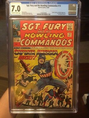 Sgt-Fury-and-His-Howling-Commandos-1964-#13--CGC 7.0--Captain-America