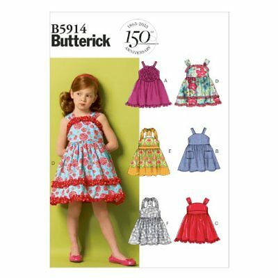 Butterick Patterns B5914 - Cartamodello per cintura e vestito da bambina ee63d7d27aa8