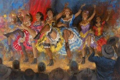 Dance Hall Girls by Andy Thomas Unstreshed Giclee on Canvas 22x16