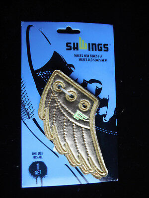 shwings Gold foil wings for your shoes