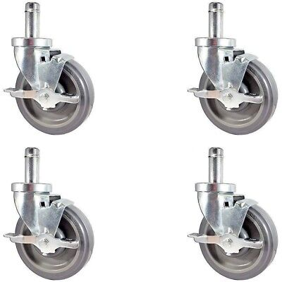 "CASTERHQ-NEW 5"" Caster set for Metro Wire Shelving - Set of 4 Casters Included"