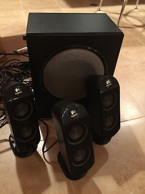 Logitech X-530 5.1-Channel Speaker Surround Sound System -Perfect, working Great