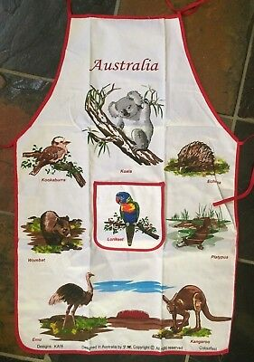 Australian Souvenir Apron Cotton Animal Design New