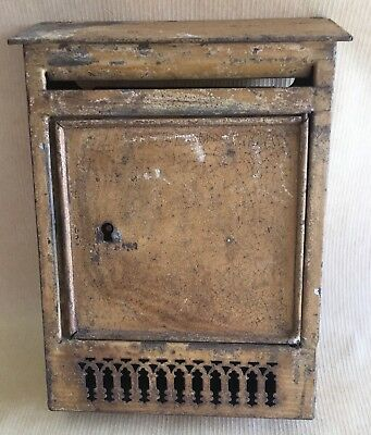 Antique French Arhitectural salvage Petit Toleware Postal Mailbox