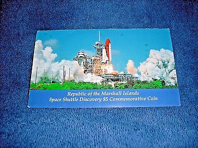 1988 Republic Of Marshall Islands Space Shuttle Discovery $5 Commemorative Coin