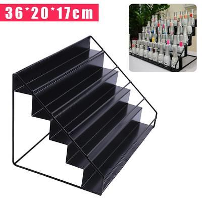 5 Tier Nail Polish Display Storage Shelf Iron Mount Organizer Stands Rack NEW