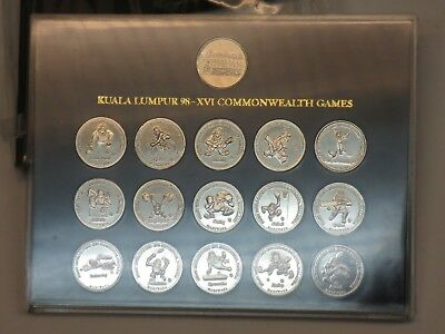 1998 Kuala Lumpur XVI Commonwealth Games Coins/Medallions Malaysia Airlines