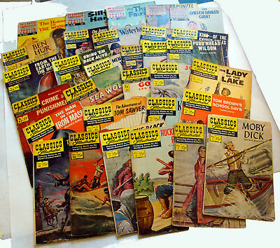Classics Illustrated large lot of 31 comics - #5 - 147  FREE Shipping