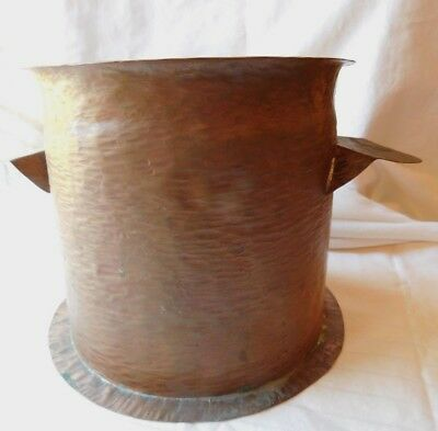 Vtg Antique Hand Made Folk Art Hammered Copper Pot Must See !!