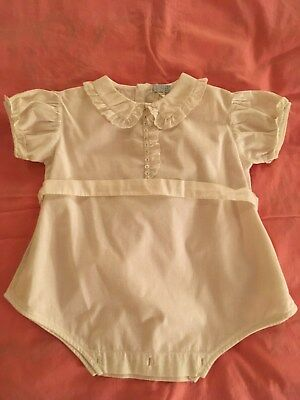 Baby Girl's Vintage Romper All Cotton 6-9 Mos