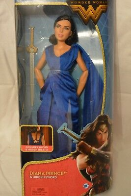 DC Comics Mattel Wonder Woman Diana Prince And Hidden Sword Doll NEW ships free!