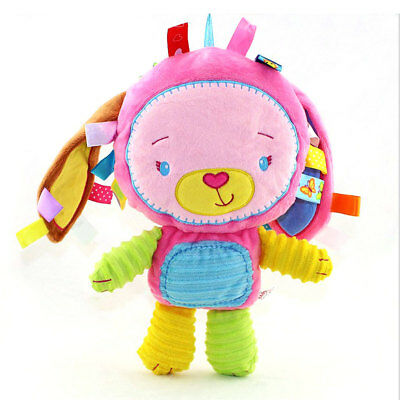 Various Colors Squeaky Rattle Plush Toy Baby Comforter Animal Rabbit Doll Toys