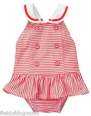 NWT Gymboree SWIM SHOP GAZEBO PARTY Sailor Swimsuit 0 3 6 6 12 M Baby Girls