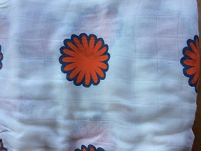 """NWT Aden and Anais Bamboo Swaddle Blanket Boutique 47"""" x 47"""" Flower"""