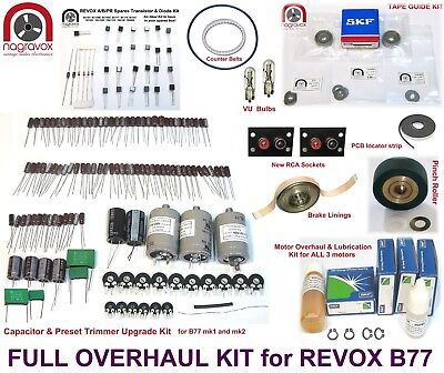 Revox B77 full overhaul kit electronics and mechanical - FULL MONTY