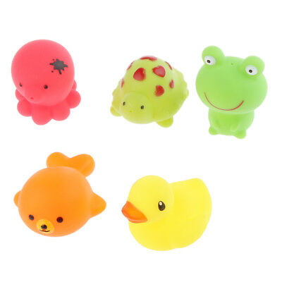 5x Baby Bathing Time Play Fun Floating Animal Bath Toy Young Kids Children Gifts