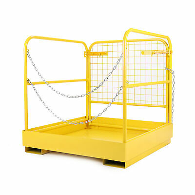 "Heavy Duty Forklift Safety Cage Steel Work Platform 749 lb. Capacity, 36""x36"""