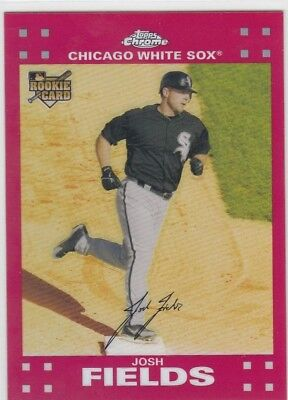 Josh Fields /99 Topps Chrome Rookie Red Refractor Rc White Sox Ref 2007 07