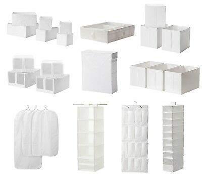 IKEA SKUBB Storage Boxes/ Shoe, Clothes Organiser And Hanging Wardrobe White