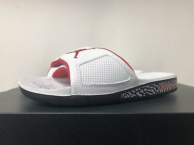 399b8729b4be Air Jordan Hydro Iii 3 Retro Sandals White Gym Red Cement Grey 854556 002  Us 8