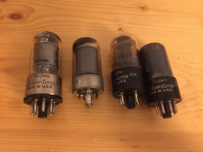 Super Silvertone Lot of 4 Tubes 6J5 6K6 7117 6SK7 Made in USA
