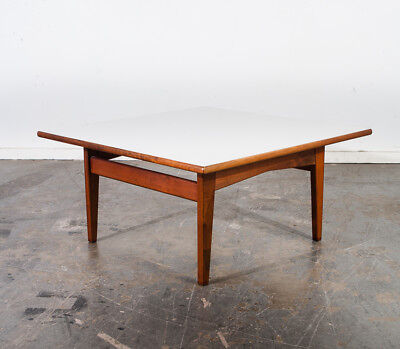 Mid Century Modern Coffee Table Jens Risom Design Square Cube Floating Vintage