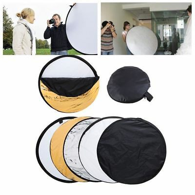 "24""/60cm 5-in-1 Photography Reflector Light Collapsible Multi Photo Disc"