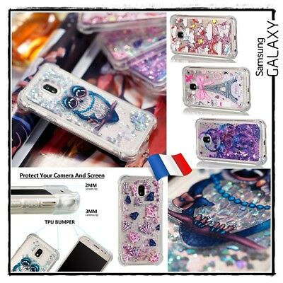 Etui housse coque Paillettes Glitter Case Cover Samsung Galaxy J3 J5 J7 (2017)