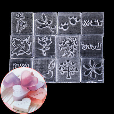 Acrylic Natural Word Handmade Clear Soap Stamping Stamp Seal Mold Craft DIY^