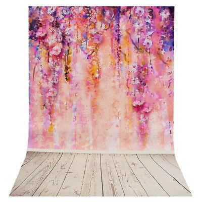 60x90cm Purple Tree Flower Photography Backdrop Wall Poster Background Prop