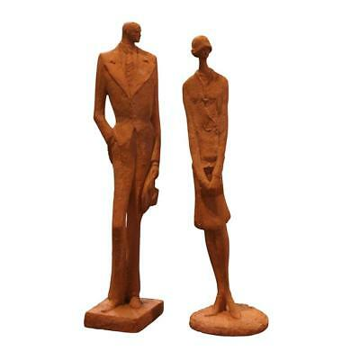 Two Ceramic Sculptures Of Lady And Gentleman. Almoneda.