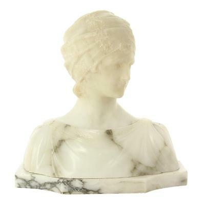 1920S Marble And Alabaster Bust. Almoneda.