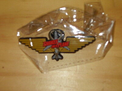 Rare Promo SNAKES ON A PLANE PIN Wings SDCC Comic Con Excl Samuel L Jackson CULT