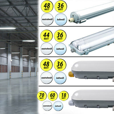 LED tubs lights industrial warehouse hall day light ceiling tubes damp room lamp