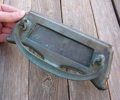 Antique Bronze Letter Box Plate with Door Knocker / Mail Slot / Mailbox
