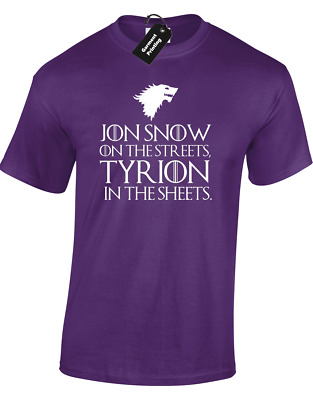 Jon Snow On Streets Unisex T-Shirt Game Of Tyrion Thrones Lannister Funny Top