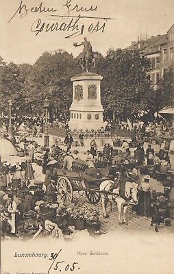 AK Luxembourg/Luxemburg. Place Guillaume gel. 1905