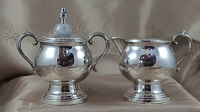 FB ROGERS SILVER Co  CREAMER and SUGAR BOWL   #2305   LOT of 2  PIECES USA