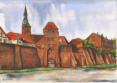 -- Tangermünde -- Aquarell watercolor 21 x 29,7 cm