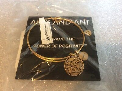 Alex and Ani Disney Parks 2015 Mickey Mouse Gold Tone Bangle Bracelet BRAND NEW!