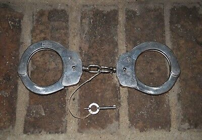 Antique Spanish-Made Handcuffs with Key, Alcyon Brand, Vintage Handcuffs