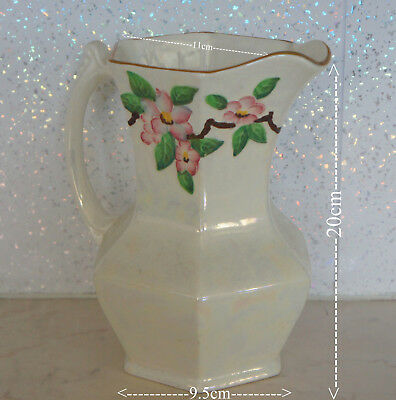 Vintage Ringtons Ltd Maling Ware Lustre Jug Floral Decoration