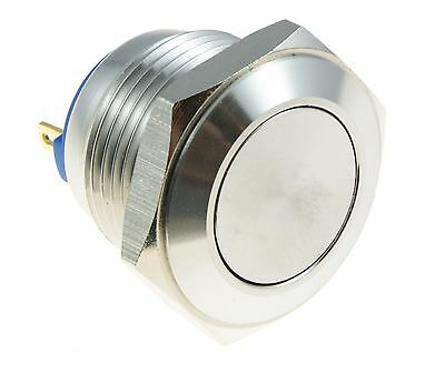 Metal 16mm Off(On) Push Button Waterproof Momentary Switch SPST