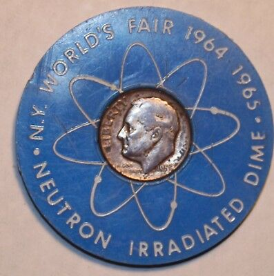 Museum Of Atomic Energy Neutron Irradiated Dime     90% Silver