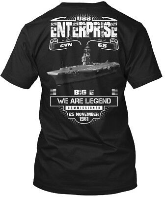 Uss Enterprise Cvn-65 - Big E We Are Legend Cvn 65 Hanes Tagless Tee T-Shirt