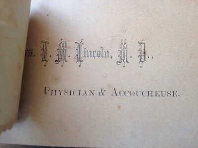 late 1800's VICTORIAN diecut DOCTOR. PHYSICIAN TRADE CARD EPHEMERA