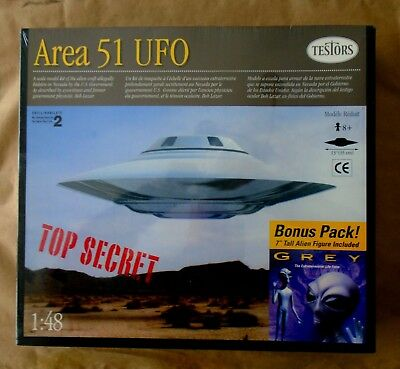 TESTORS 1/48 AREA 51 UFO Flying Saucer Model KIT, NEW