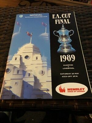 Everton V Liverpool FA Cup Final 20th May 1989