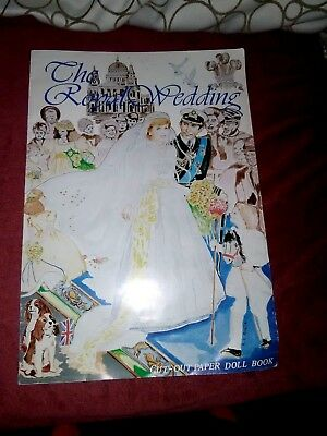 Princess Diana THE ROYAL WEDDING CUT OUT PAPER DOLL BOOK LOVELY RARE!